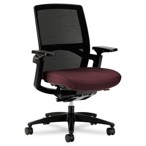 HON F3 Series Ilira Stretch-Back Work Chair, Wine Upholstery