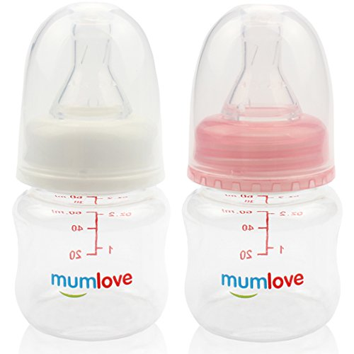 MUAI BPA Free Newborn Baby Feeding Bottle with Slow Flow Nip