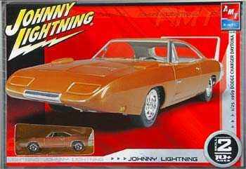 1969 Dodge Charger Daytona 1:25 Scale Model Kit - BONUS Johnny Lightning Matching Die Cast Car 1:64 Scale - AMT Ertl