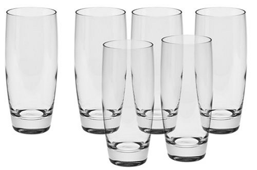 Luigi Bormioli Michelangelo Masterpiece 14.5-Ounce Highball Beverage Glasses (Set of 6)