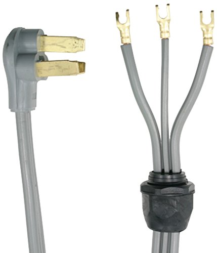 Certified Appliance Accessories 90-1020QC 3-Wire Quick-Connect Dryer Cord, Closed Eyelet