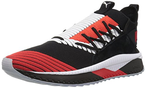 PUMA Men Tsugi Jun Cubism Sneaker Puma Black-puma White-flame Scarlet