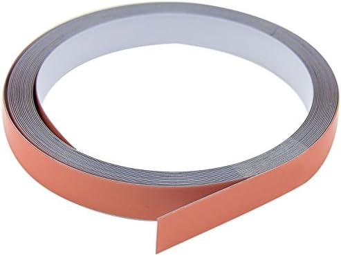1 12,5 mm ancho x 0,4 mm de grosor acero cinta adhesiva Premium autoadhesivo first4magnets f4mff12ss blanco brillante