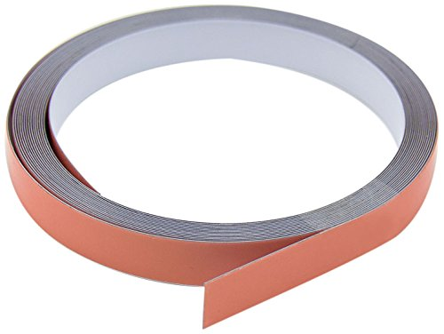 Magnet Expert 12.5mm wide x 0.4mm thick Gloss White Steel Tape with Premium Self Adhesive ( 5m Roll )