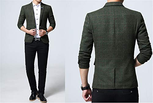 Casual Arrivée Khaiset Veste Breasted Printemps Costume Fashion Khaki Slim Hommes Party Single Blazers gww45qC