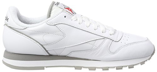 Red Carbon Uomo Classic Leather Sneaker White Bianco Archive Grey Reebok 4U80Ixq4