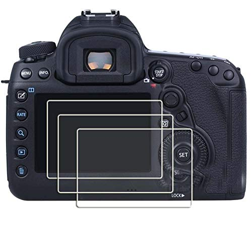 (PCTC Tempered Glass Screen Protector for Canon EOS 5D Ⅲ III Mark 3 5DS 5DSR 5D Mark 4 IV Ⅳ Anti-scrach auti-Fingerprint High Transparency Crystal-Clear [3)