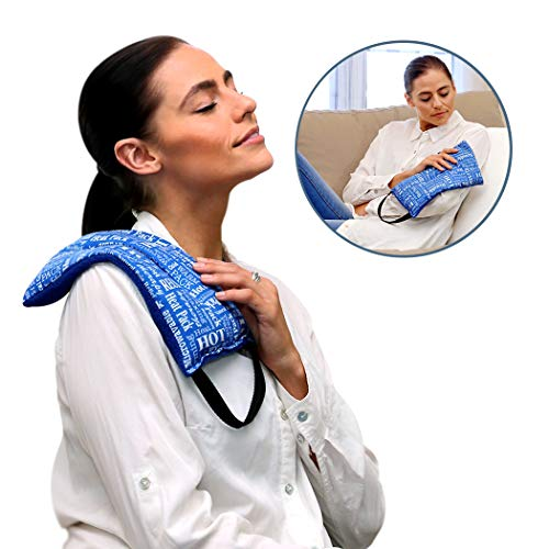 Heat Therapy Pack, Mighty Relief Pillow, Microwavable Scented Heating Pads for Neck, Shoulder, Menstrual Pain Relief by HTP Relief, Blue