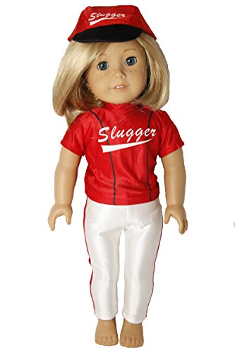 Red Baseball Slugger Outfit for 18 Inch Dolls Like American Girl