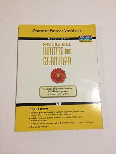 Prentice Hall Writing and Grammar, Grade 6: Grammar Exercise Book [Teachers Edition]