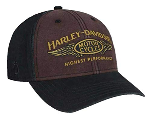 Harley-Davidson Men's Highest Performance Stone Washed Baseball Cap BCC33668 Black
