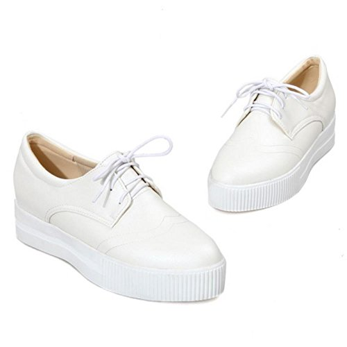 Shoes Women's Lace Flatform TAOFFEN White up qvIwqS6