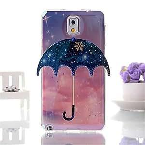 WQQ Deep Blue Umbrella Pattern Three-Dimensional Blue TPU Phone Case for Samsung Galaxy Note 3