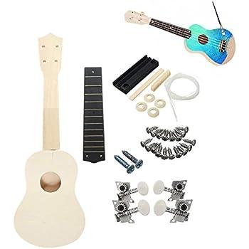 zimo diy ukulele make your own ukulele hawaii ukulele kit 21in musical instruments. Black Bedroom Furniture Sets. Home Design Ideas