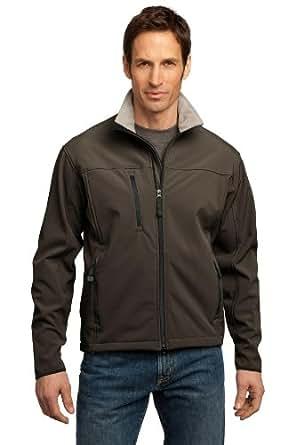 Port Authority Glacier Soft Shell Jacket. J790 Brown/Chrome XS