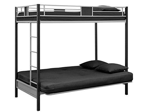 dhp screen over futon metal bunk bed silver black