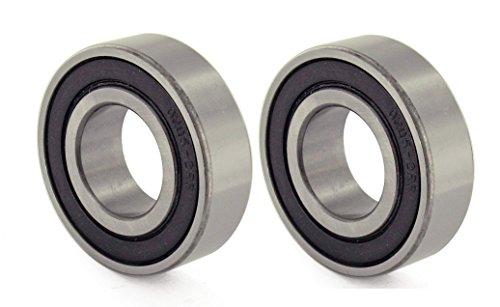 2x 6205-ZZ Ball Bearing 25mm x 52mm x 15mm Shielded Seal Metal w// Snap Ring