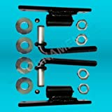 """3/4 J-Bolt with Plate J Bolt Hinges For Large Heavy Driveway Gates, Steel, Iron, Wood or Aluminum Mounts on a 4"""" X 4"""" Post"""