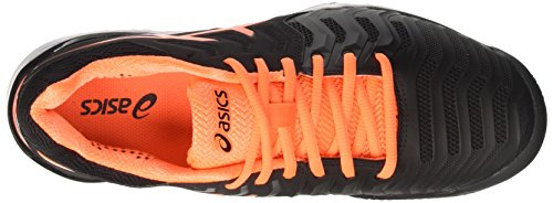 Para De resolution white Negro Tenis Zapatillas Clay Asics 7 Gel black Orange shocking Hombre qa5w0xxOX