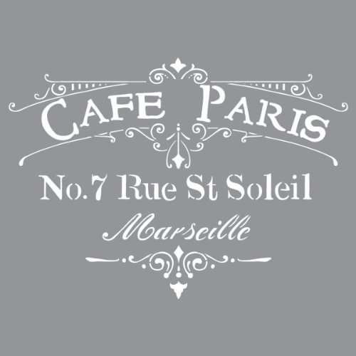 Collection Furniture Paris - Deco Art Americana Decor Cafe Paris Stencil