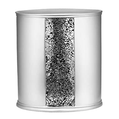 Popular Bath  Sinatra Silver  Waste Basket
