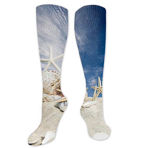 nadoab Christmas Snowy Stocking for Holiday Party Decorations Gift-One Piece Shell Sand Starfish Summer