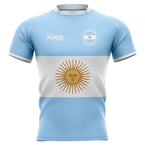 Airo Sportswear 2019-2020 Argentina Flag Concept Rugby Football Soccer T-Shirt Jersey