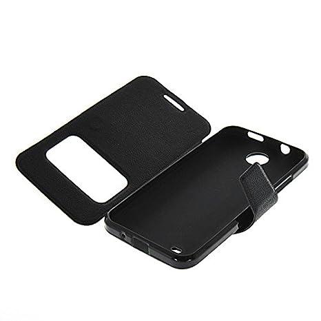 Amazon.com: HTC Desire 300 / Zara mini Case,ONEWIND [Black ...