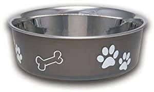 Loving Pets Bella Bowl Dog Bowl, Large, Espresso
