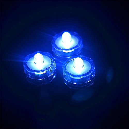 12pcs LED Submersible Waterproof Party Candle Green - 9