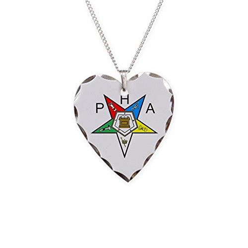 CafePress - PHA Eastern Star - Charm Necklace with Heart Pendant