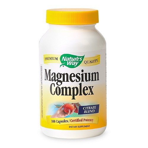 Nature's Way Magnesium Citrate Complex, 500mg, Capsules 100 ea(pack of (100 Ea Natures Way)