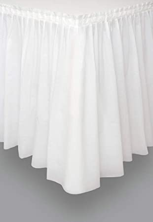 Unique Party- Falda de mesa de plástico, Color blanco, 420 cm ...