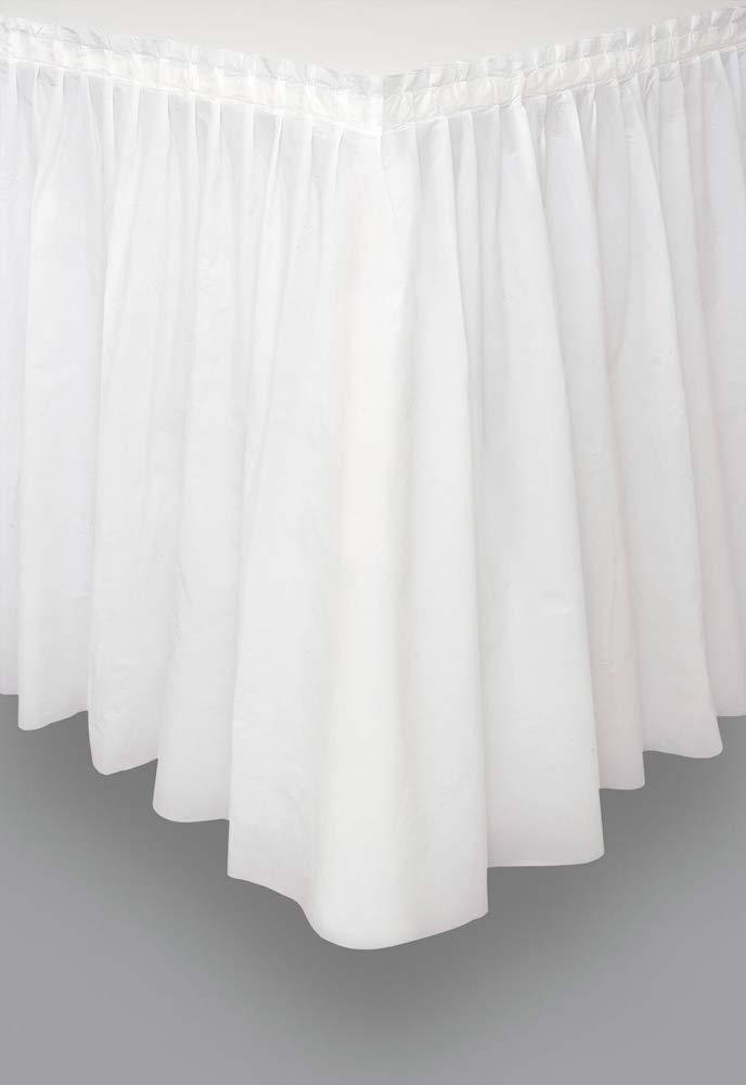 White Plastic Table Skirt, 29'' x 14ft.