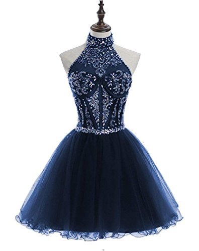 alter Beading Homecoming Dresses Sequined Backless Prom Gowns Short ()