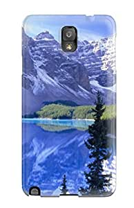 Hot Style XXytKRE10777zdMLo Protective Case Cover For Galaxynote 3(blue Lake And Mountains)