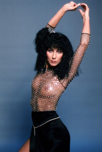 Cher Sexy See-Thru Top Scantily Clad 1970