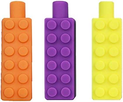 JIACUO Lápiz Toppers 3 Pack Juguetes de Terapia de Silicona ...