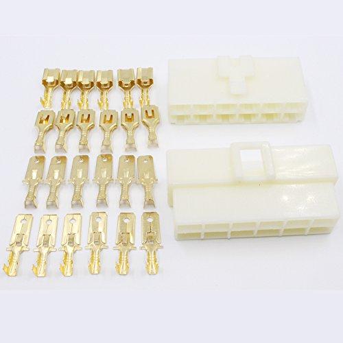 EMeskymall 3 Set 12 Pin Way 6.3mm 1/4