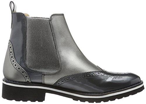 Melvin&Hamilton Esther 7, Zapatillas de Estar por Casa para Mujer Multicolor - Mehrfarbig (Patent LAMINATO Gunmetal/Ela.Gunmetal/Rook D Black)