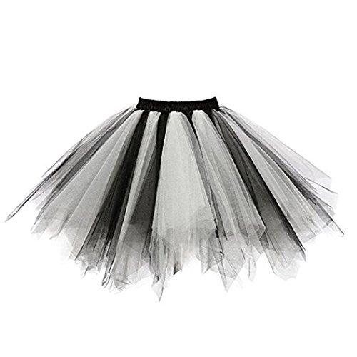Fathoit Chic Mode Ballet Tutu en Tulle Jupe Courte Style Haute Qualit Plisse Jupe Courte Tutu Danse Jupe Multicolore-e