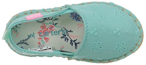 Carter's Astrid Girl's Espadrille Slip-On, Turquoise, 10 M US Toddler by Carter's (Image #8)