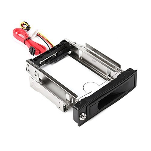 KKmoon Tool-Free 3.0Gb/s S-ATA II HDD-ROM Internal 3.5'' SATA HDD Frame Mobile Rack Tray Enclosure Docking Station Hot Swap Drive Bay Trayless Design Internal HDD Case for 3.5in by KKmoon