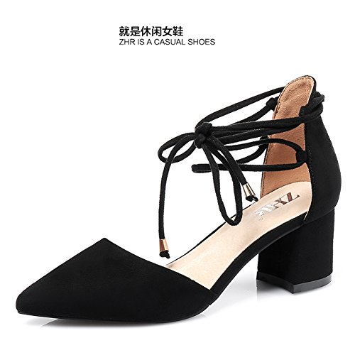 Korean Version Of The Rough In Summer Sandals,Women's Wedges Strappy Shoes,Pointy Women Shoes,Casual Shoes A
