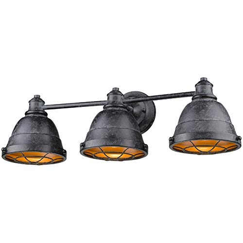 Beaumont Lane 3 Light Steel Vanity Light in Black ()