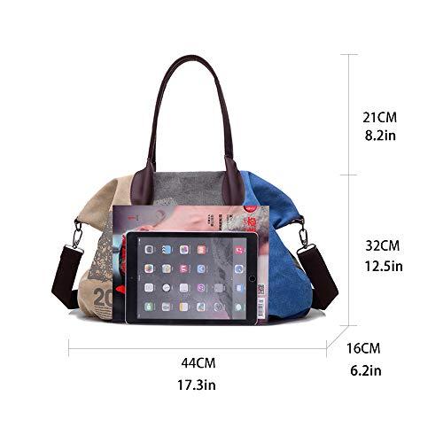 Colore Blu A Donna Messenger Shopping G Borse Bag Grande Rosso averil Borsa Tracolla Mano Multi Spalla Borsetta Tela Vino Tote Lago xUxASZqw