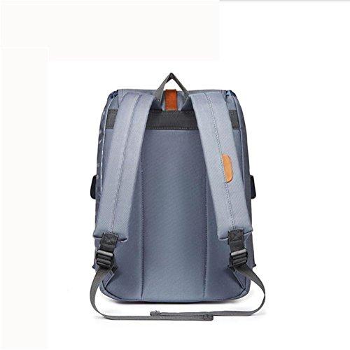 Ocio Nylon Mochila Rucksack Backpack Ligero Impermeable Colegio Pantalón Con computadora Compartimiento , Khaki red