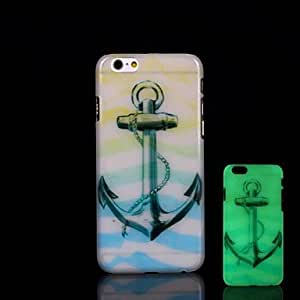 QJM Anchors Pattern Glow in the Dark Hard Case for iPhone 6 Plus