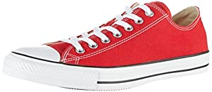 Converse Unisex Chuck Taylor All Star Low Top Red Sneakers - 11.5 D(M) US