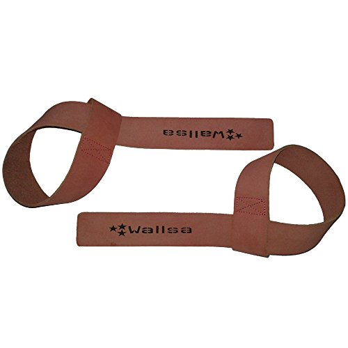 Wallsa Leather lifting straps (Pink)